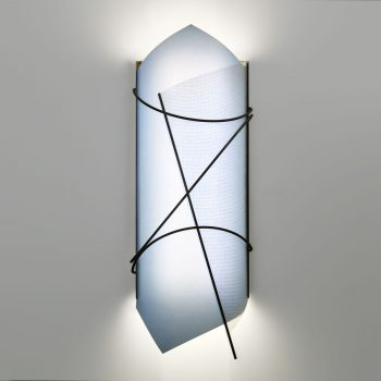 Our Custom Isabel Sconce is comprised of welded steel and two washable, antimicrobial *Lumenate® diffusers.